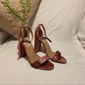 Steve Madden Pink Plush Heels. Size 7.5.